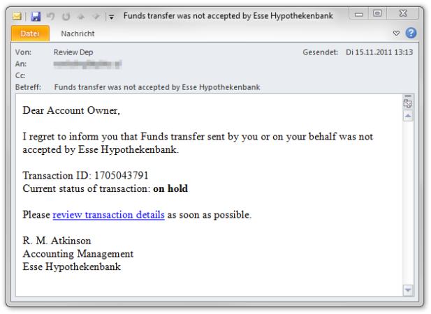 Cuidado con los correos de entidades bancarias