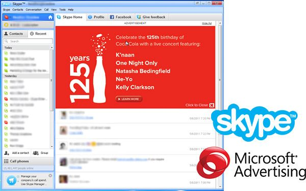 ms advertising skype