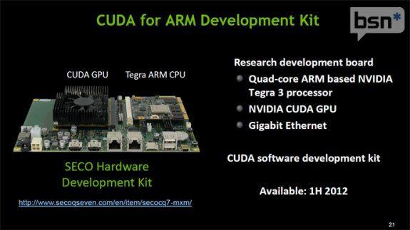 NVIDIA lanza kit de desarrollo de CUDA para ARM