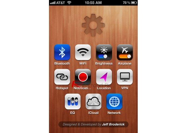 Acceso directo hub de configuración de tu iPhone gratis y sin Jailbreak
