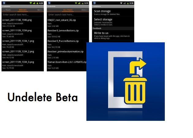 Undelete Beta: recupera archivos borrados en Android