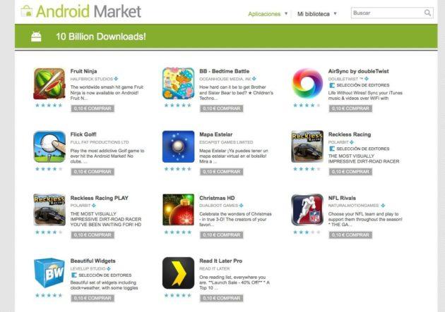 Aplicaciones a 0,10€ en Android Market (día 2)