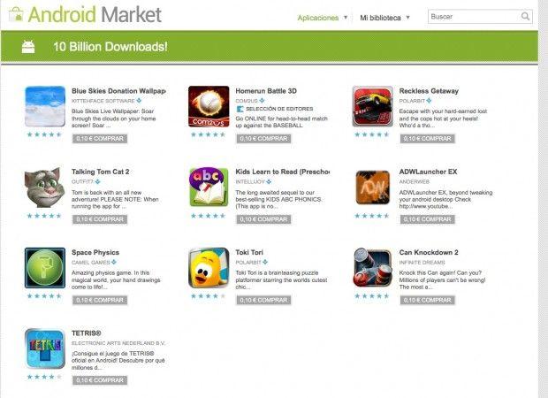 Aplicaciones a 0,10€ en Android Market (día 3)