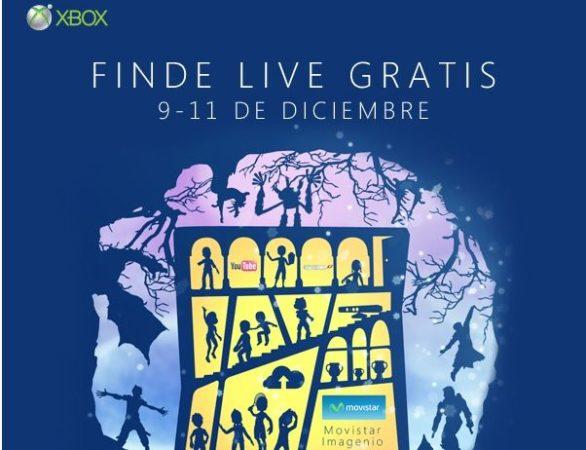 Xbox LIVE Gold gratis este finde 9 – 11 de diciembre