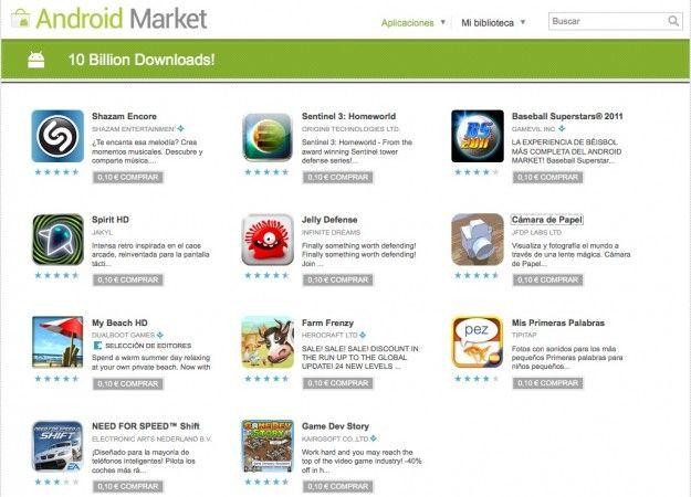 Aplicaciones android market día 4