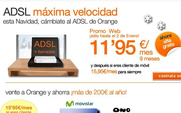 Orange, ADSL 20 megas