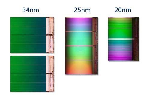 Intel y Micron anuncian NAND de 128 Gbits en 20 nm