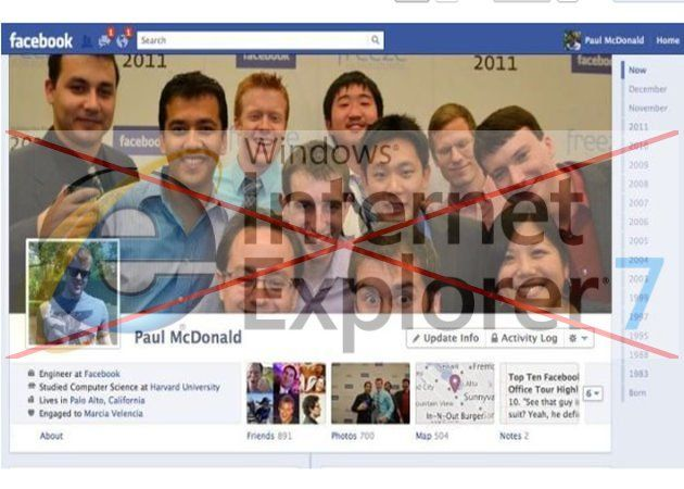 Facebook deja sin soporte a Internet Explorer 7