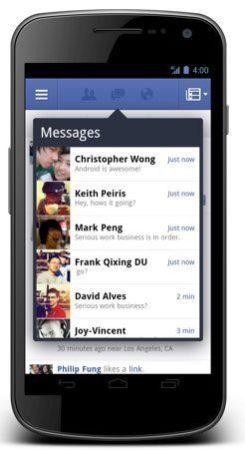 Facebook rediseña su aplicación para Android