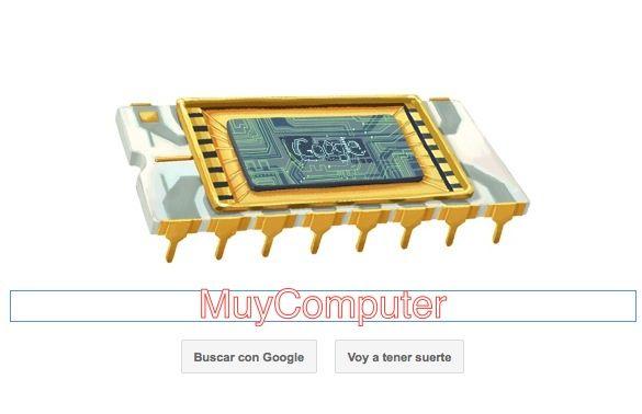 Doodle que celebra el cumpleaños del cofundador de Intel