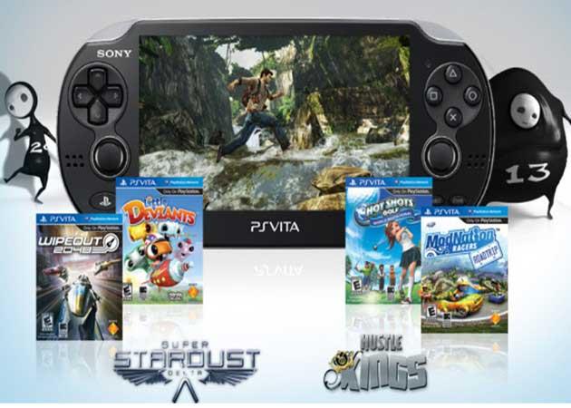 Juegos y accesorios para el lanzamiento internacional de la PS Vita