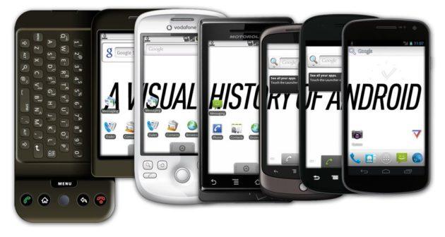La evolución estética de Android, desde 1.0 hasta Android 4.0