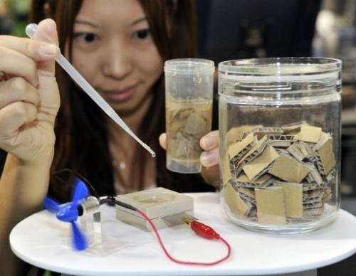 Sony acaba de mostrar biobaterías, fuentes de energía de papel