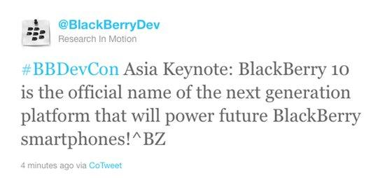 Blackberry renombra BBX, el futuro OS será BlackBerry 10