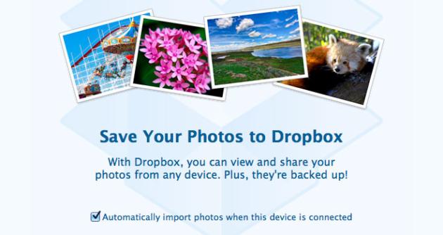 Dropbox ya permite importar fotos de una cámara