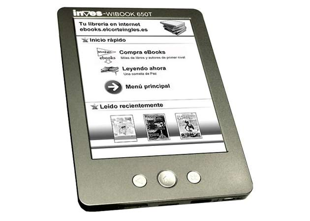 Inves Wibook 650T, el e-reader de El Corte Inglés