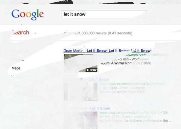 Let it Snow, la nieve llega a Google a modo de Huevo de Pascua 27