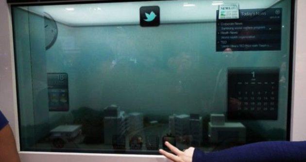 Samsung apuesta por las pantallas transparentes para 2012 (VIDEO)