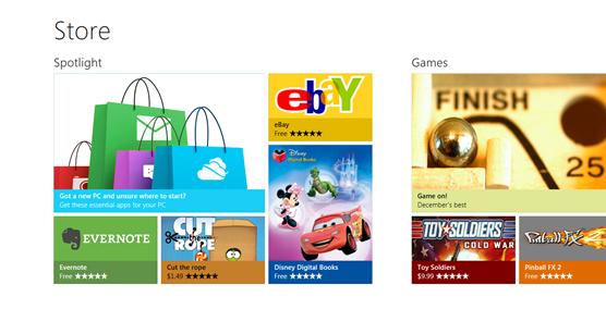 Microsoft desvela su Windows App Store