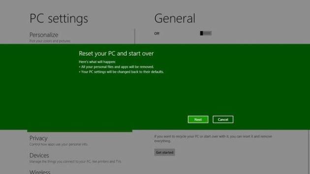 Windows 8 tendrá un sistema de formateo y reinstalación para tontos 31