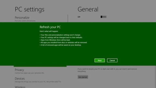 Windows 8 tendrá un sistema de formateo y reinstalación para tontos 33