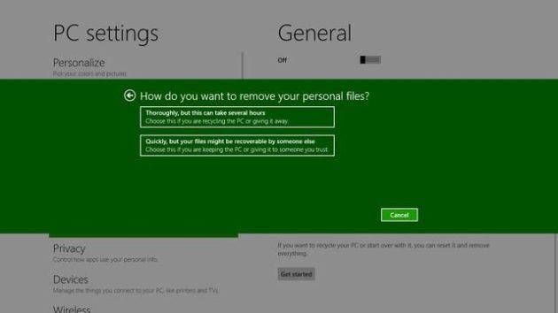 Windows 8 tendrá un sistema de formateo y reinstalación para tontos 32