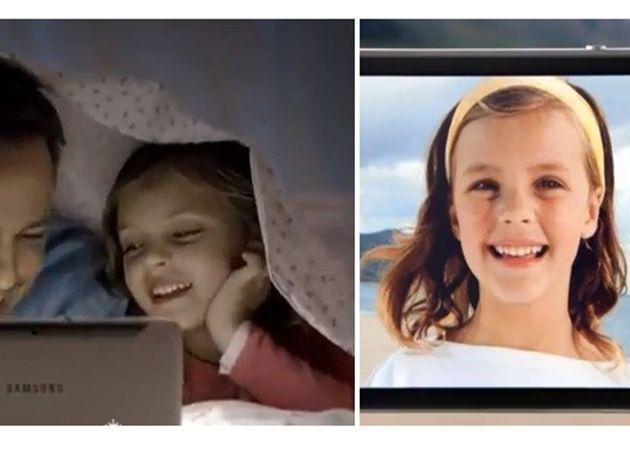 Samsung copia la actriz publicitaria de Apple