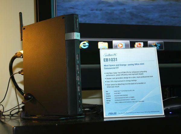 ASUS presenta un nettop con plataforma Intel Cedar Trail, Eee Box EB1031