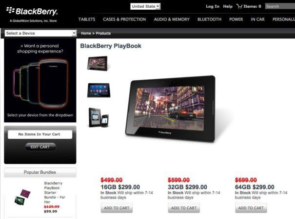 RIM rebaja a 299$ todos sus tablets PlayBook: 16, 32 y 64 Gbytes