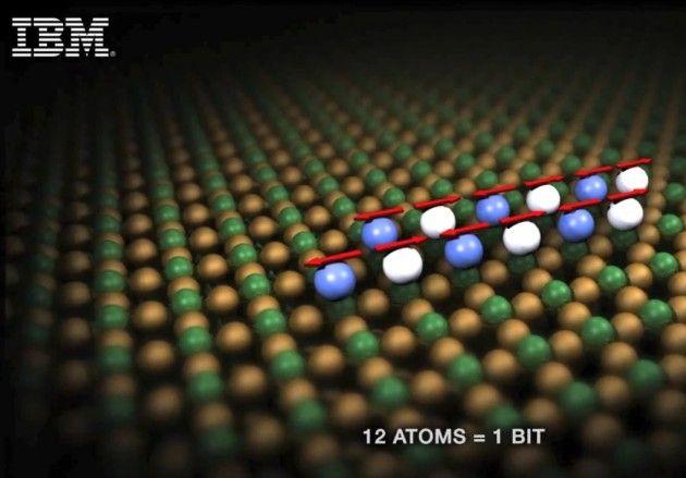 IBM consigue almacenar un bit de información en tan sólo 12 átomos