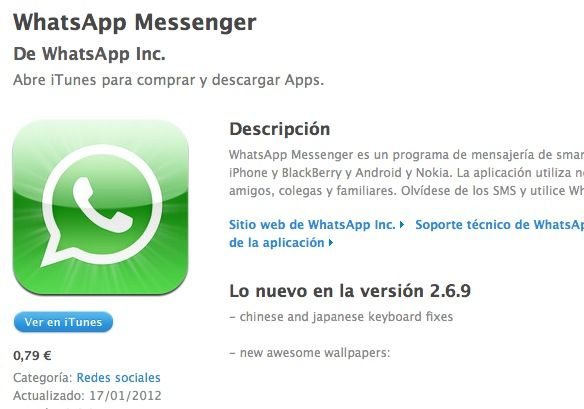 WhatsApp vuelve a App Store, versión 2.6.9 con mejoras de rendimiento