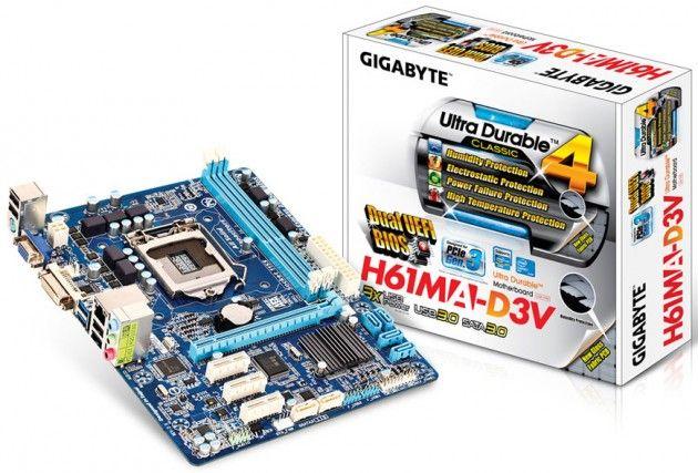 GIGABYTE GA-H61MA-D3V, nueva placa con Dual-UEFI