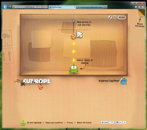 El juego Cut the Rope! llega al navegador vía HTML5