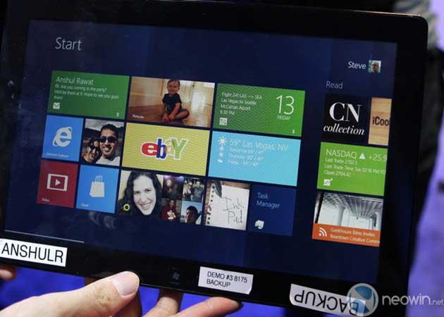 [CES 2012] Pre-beta de Windows 8 para tablet en acción