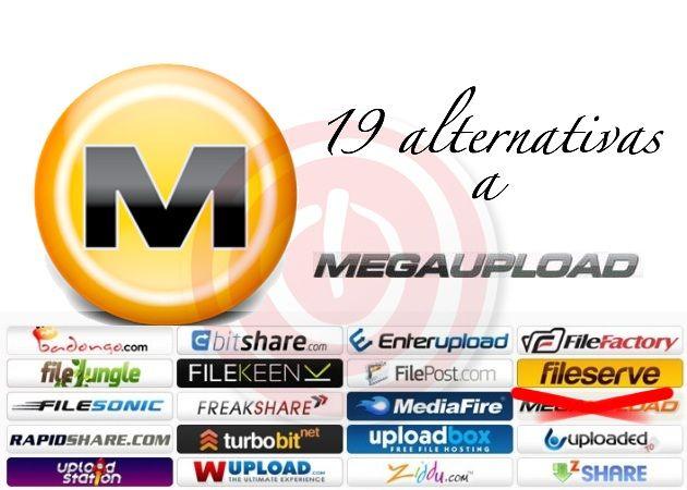 Megaupload K.O. – 19 alternativas