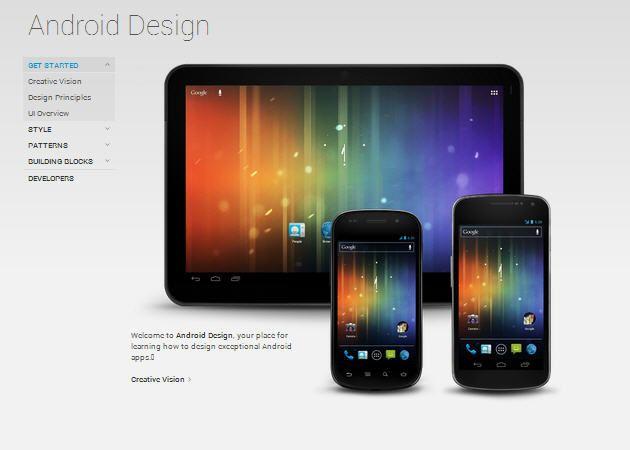 Android publica sus guías de diseño para desarrolladores