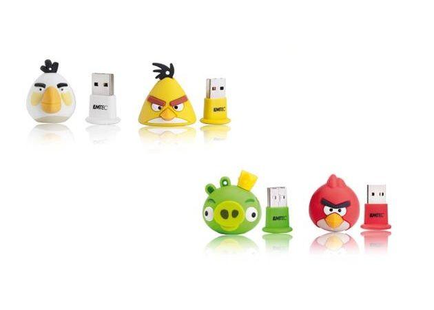 Los Angry Birds llegan a los pendrives de la mano de EMTEC