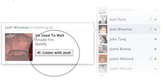 """Facebook lanza su servicio """"Listen with Friends"""""""