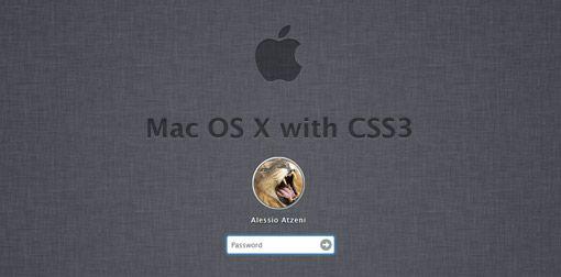Login Mac OS X Lion en el navegador