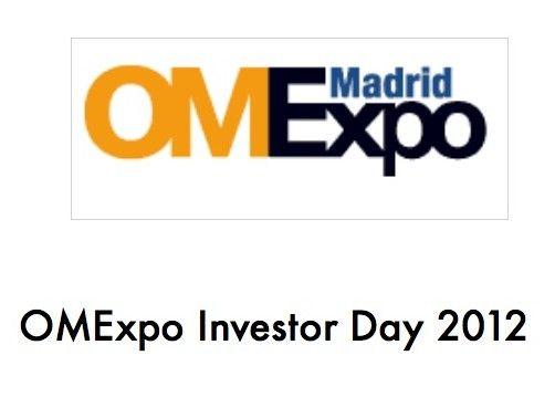 ¿Eres emprendedor tecnológico? OMExpo Investor Day 2012
