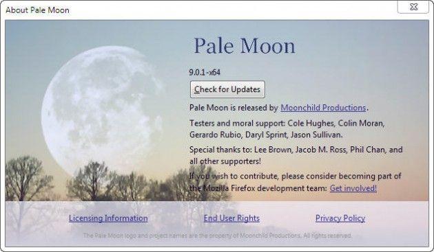 Pale Moon, o como disfrutar de Firefox en 64 bits
