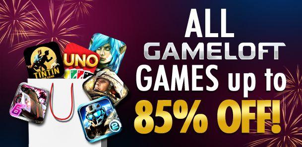Las rebajas llegan a Gameloft en Android Market, hasta un 85% de descuento