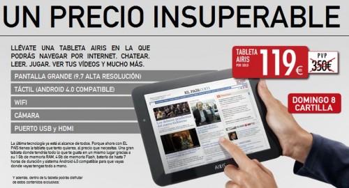 Airis OnePad 970, el tablet de El País, ¿merece la pena?