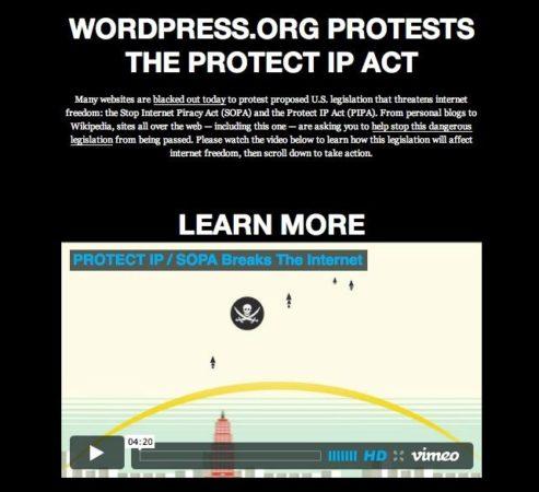 La Wikipedia, WordPress, Google y otros grandes, contra la SOPA 30