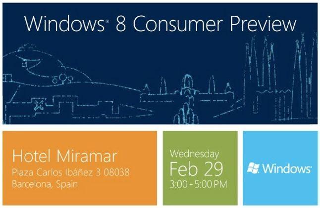 Presentación Windows 8 Consumer Preview, en directo