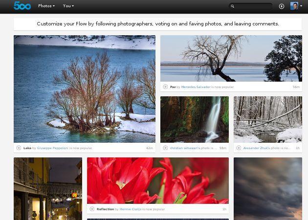 500px renueva su interfaz, nueva amenaza a Flickr 30