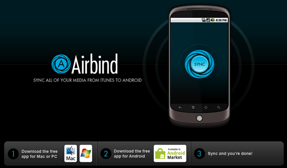 Airbind, sincroniza tu smartphone Android con iTunes sin esfuerzo y gratis