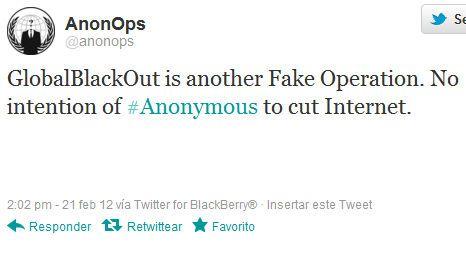 Anonymous no nos dejará sin Internet, GlobalBlackout es un bulo