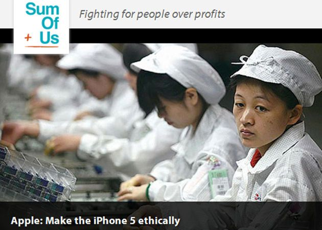 Piden a Apple un iPhone 5 ético