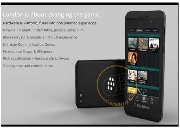 Primera imagen y detalles de las BlackBerry serie 10